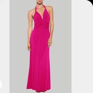 NATORI TWIST FRONT MAXI DRESS